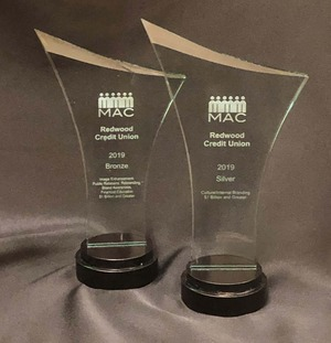 MAC awards won by Redwood Credit Union in 2019